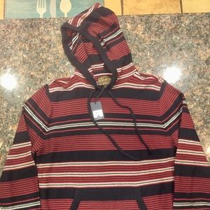 Lucky Brand Red/Navy/White Striped Cotton Hoodie